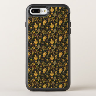 Capa Para iPhone 8 Plus/7 Plus OtterBox Symmetry Capa de telefone Ditzy dos caráteres   do Natal do