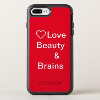Capa Para iPhone 8 Plus/7 Plus OtterBox Symmetry Capa de telefone do cérebro do beauty& do amor