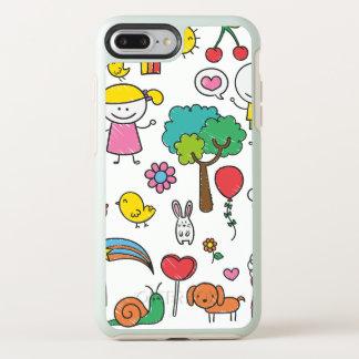 Capa Para iPhone 8 Plus/7 Plus OtterBox Symmetry Capa de telefone do desenho   das crianças