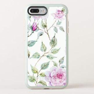 Capa Para iPhone 8 Plus/7 Plus OtterBox Symmetry Capa de telefone elegante das folhas e dos rosas |