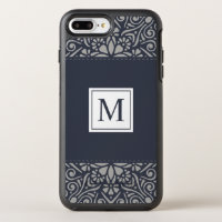 Capa de telefone floral elegante do monograma | da