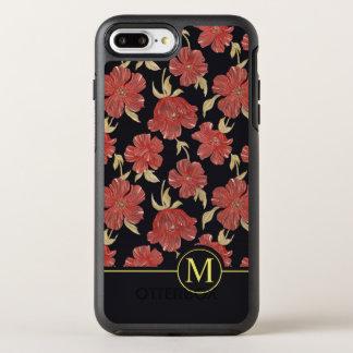 Capa Para iPhone 8 Plus/7 Plus OtterBox Symmetry Capa de telefone floral vermelha original do