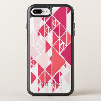 Capa Para iPhone 8 Plus/7 Plus OtterBox Symmetry Capa de telefone geométrica abstrata cor-de-rosa