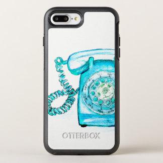 Capa Para iPhone 8 Plus/7 Plus OtterBox Symmetry Capa de telefone giratória azul retro do vintage