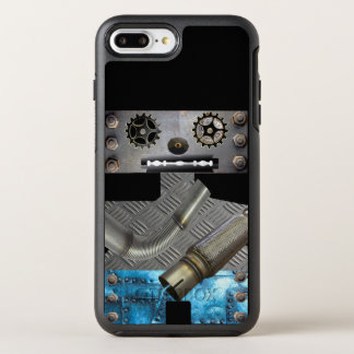 Capa Para iPhone 8 Plus/7 Plus OtterBox Symmetry Capas de iphone do robô do metal de Sci Fi