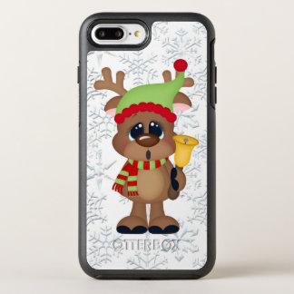Capa Para iPhone 8 Plus/7 Plus OtterBox Symmetry Caso positivo do iPhone 7 da rena do sino de Natal