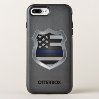 Capa Para iPhone 8 Plus/7 Plus OtterBox Symmetry Caso positivo do iPhone 7 finos de Blue Line