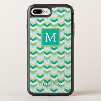 Capa Para iPhone 8 Plus/7 Plus OtterBox Symmetry Cerceta do monograma | & Herringbone verde