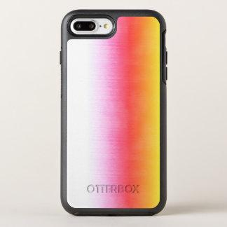 Capa Para iPhone 8 Plus/7 Plus OtterBox Symmetry Céu cor-de-rosa da aguarela de Ombre do amarelo