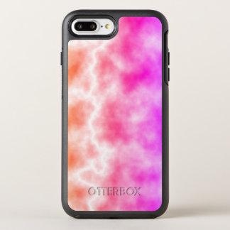 Capa Para iPhone 8 Plus/7 Plus OtterBox Symmetry Céu cor-de-rosa da tempestade do trovão