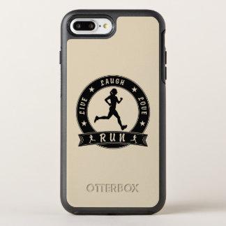 Capa Para iPhone 8 Plus/7 Plus OtterBox Symmetry Círculo fêmea FUNCIONADO do riso amor vivo (preto)