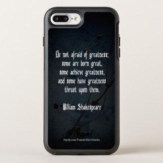 Capa Para iPhone 8 Plus/7 Plus OtterBox Symmetry Citações de William Shakespeare - grandeza