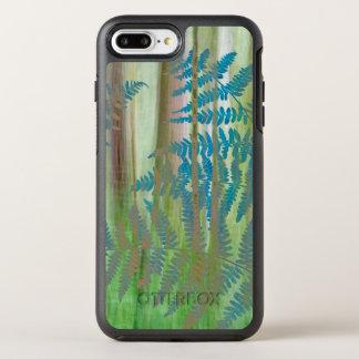 Capa Para iPhone 8 Plus/7 Plus OtterBox Symmetry Colagem das samambaias da samambaia e da floresta