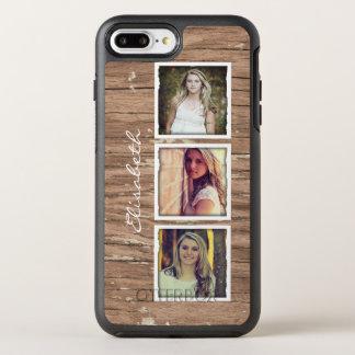 Capa Para iPhone 8 Plus/7 Plus OtterBox Symmetry Colagem de madeira rústica da foto de Instagram do
