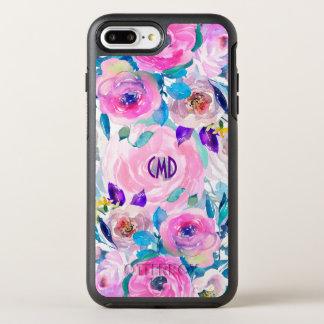Capa Para iPhone 8 Plus/7 Plus OtterBox Symmetry Colagem moderna colorida das flores das aguarelas