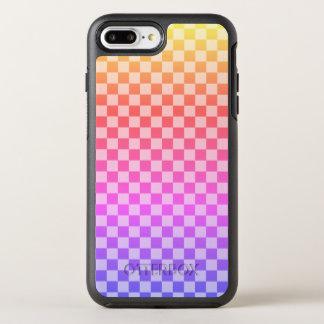 Capa Para iPhone 8 Plus/7 Plus OtterBox Symmetry Colorido brilhante Checkered da verificação do