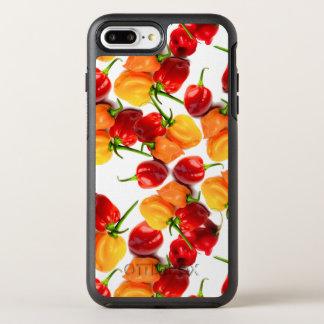 Capa Para iPhone 8 Plus/7 Plus OtterBox Symmetry Comida quente alaranjada das pimentas vermelhas
