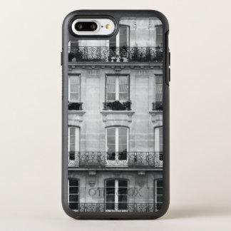 Capa Para iPhone 8 Plus/7 Plus OtterBox Symmetry Construção preto e branco do vintage do viagem |