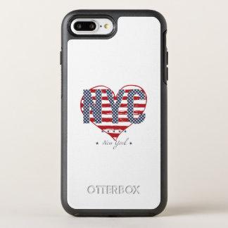 Capa Para iPhone 8 Plus/7 Plus OtterBox Symmetry Coração da bandeira americana de NYC
