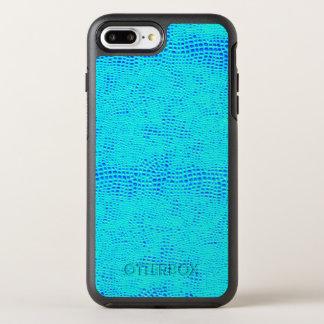Capa Para iPhone 8 Plus/7 Plus OtterBox Symmetry Couro azul de néon do Vegan da escala da sereia