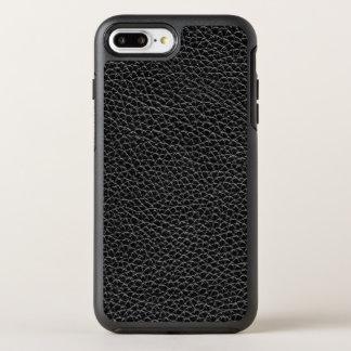 Capa Para iPhone 8 Plus/7 Plus OtterBox Symmetry Couro preto do falso
