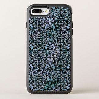Capa Para iPhone 8 Plus/7 Plus OtterBox Symmetry Damasco azul de Shibori do Batik do céu nocturno