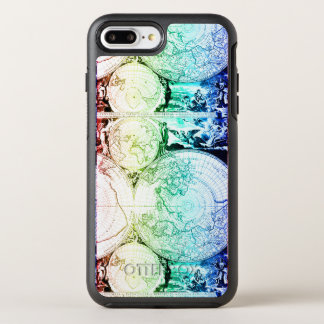 Capa Para iPhone 8 Plus/7 Plus OtterBox Symmetry Design do atlas do mapa do mundo do arco-íris