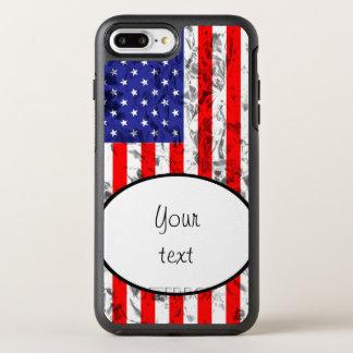 Capa Para iPhone 8 Plus/7 Plus OtterBox Symmetry Design metálico 2 da bandeira americana