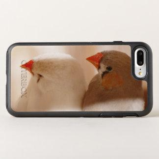Capa Para iPhone 8 Plus/7 Plus OtterBox Symmetry Dois pássaros bonitos do passarinho na gaiola
