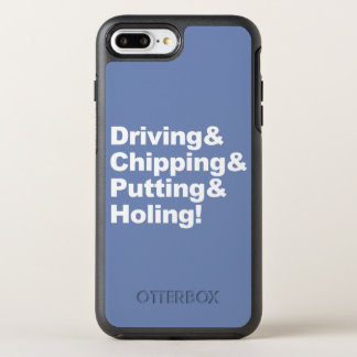 Capa Para iPhone 8 Plus/7 Plus OtterBox Symmetry Driving&Chipping&Putting&Holing (branco)
