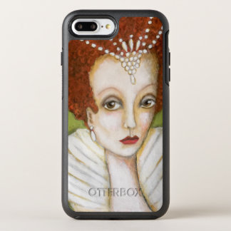 Capa Para iPhone 8 Plus/7 Plus OtterBox Symmetry Elizabeth eu cabelo vermelho de pintura perolizo o