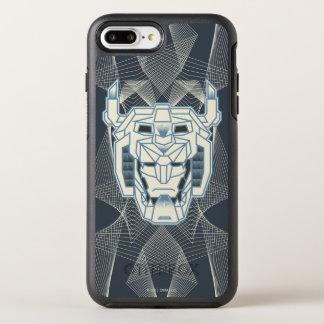 Capa Para iPhone 8 Plus/7 Plus OtterBox Symmetry Esboço azul de Voltron | Voltron e branco