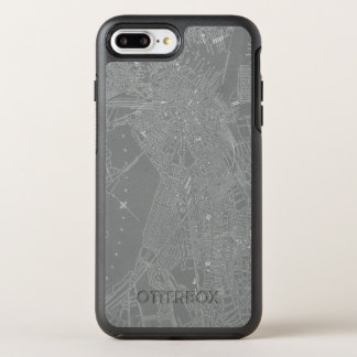 Capa Para iPhone 8 Plus/7 Plus OtterBox Symmetry Esboço do mapa da cidade de Boston