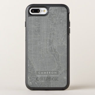 Capa Para iPhone 8 Plus/7 Plus OtterBox Symmetry Esboço do mapa da Nova Iorque