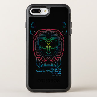 Capa Para iPhone 8 Plus/7 Plus OtterBox Symmetry Esboço piloto da cabeça do inclinação das cores de