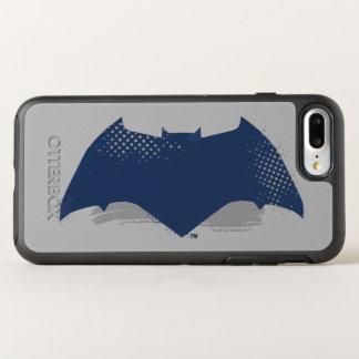 Capa Para iPhone 8 Plus/7 Plus OtterBox Symmetry Escova da liga de justiça | & símbolo de intervalo