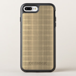 Capa Para iPhone 8 Plus/7 Plus OtterBox Symmetry Estilo da xadrez de Tartan 90s de Brown do Grunge