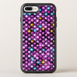 Capa Para iPhone 8 Plus/7 Plus OtterBox Symmetry estrelas brilhantes roxas coloridas bonitas