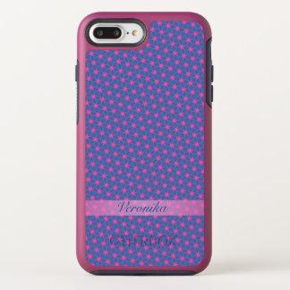 Capa Para iPhone 8 Plus/7 Plus OtterBox Symmetry Estrelas cor-de-rosa em um fundo azul