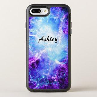 Capa Para iPhone 8 Plus/7 Plus OtterBox Symmetry Estrelas roxas azuis legal elegantes da galáxia do