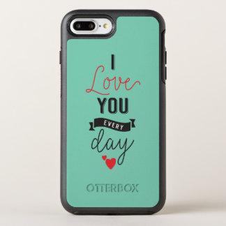 Capa Para iPhone 8 Plus/7 Plus OtterBox Symmetry Eu te amo capa de telefone diária dos namorados |