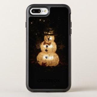 Capa Para iPhone 8 Plus/7 Plus OtterBox Symmetry Exposição da luz do feriado do boneco de neve