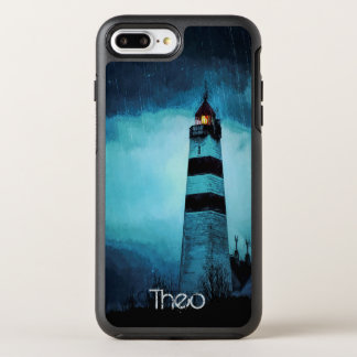 Capa Para iPhone 8 Plus/7 Plus OtterBox Symmetry Farol com luz em a noite na chuva de derramamento