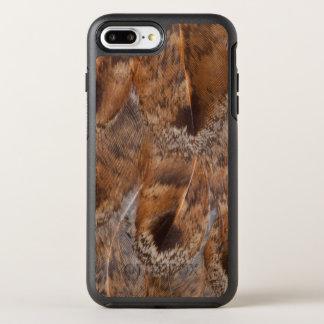 Capa Para iPhone 8 Plus/7 Plus OtterBox Symmetry Feche acima das penas de Brown