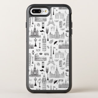 Capa Para iPhone 8 Plus/7 Plus OtterBox Symmetry Férias no teste padrão de Europa