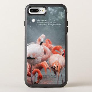 Capa Para iPhone 8 Plus/7 Plus OtterBox Symmetry Flamingos de Smithsonian | na neve