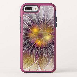 Capa Para iPhone 8 Plus/7 Plus OtterBox Symmetry Flor colorida luminosa, Fractal moderno abstrato