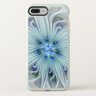 Capa Para iPhone 8 Plus/7 Plus OtterBox Symmetry Flor Pastel azul moderna do abstrato floral da