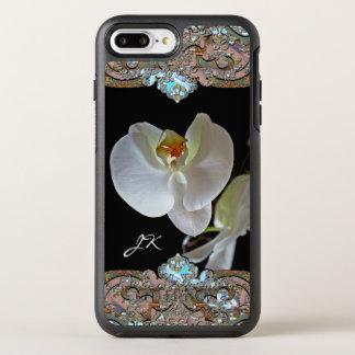 Capa Para iPhone 8 Plus/7 Plus OtterBox Symmetry Floral bonito do monograma da orquídea