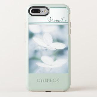 Capa Para iPhone 8 Plus/7 Plus OtterBox Symmetry Flores brancas bonitas do hydrangea. Adicione o